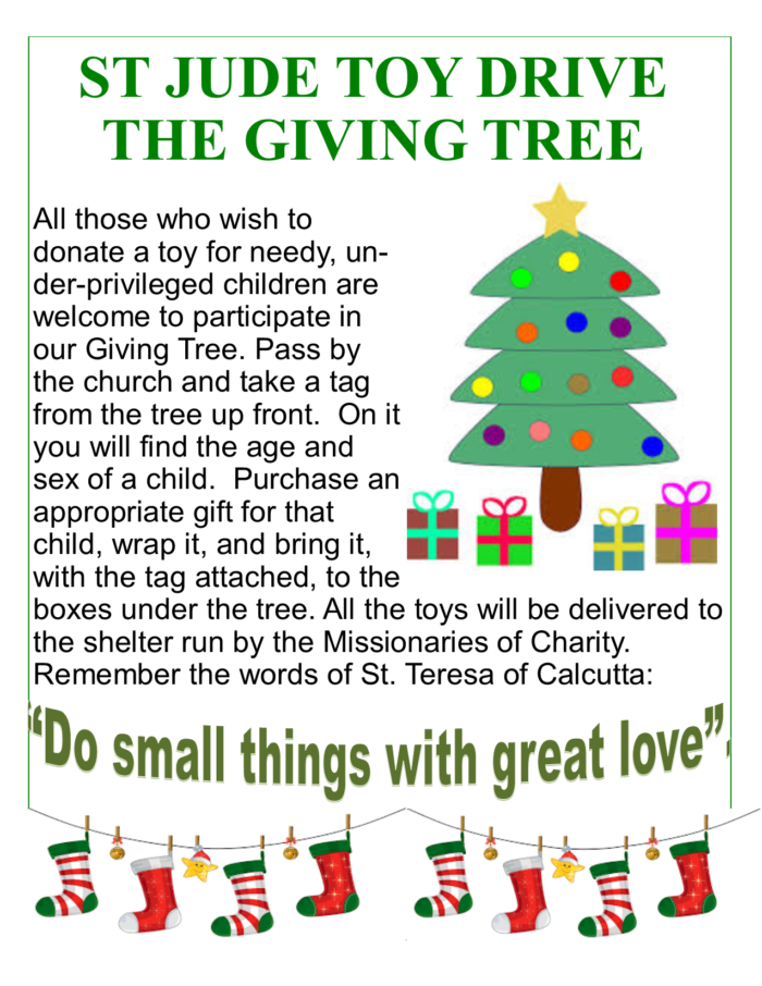 St. Jude Toy Drive - The Giving Tree
