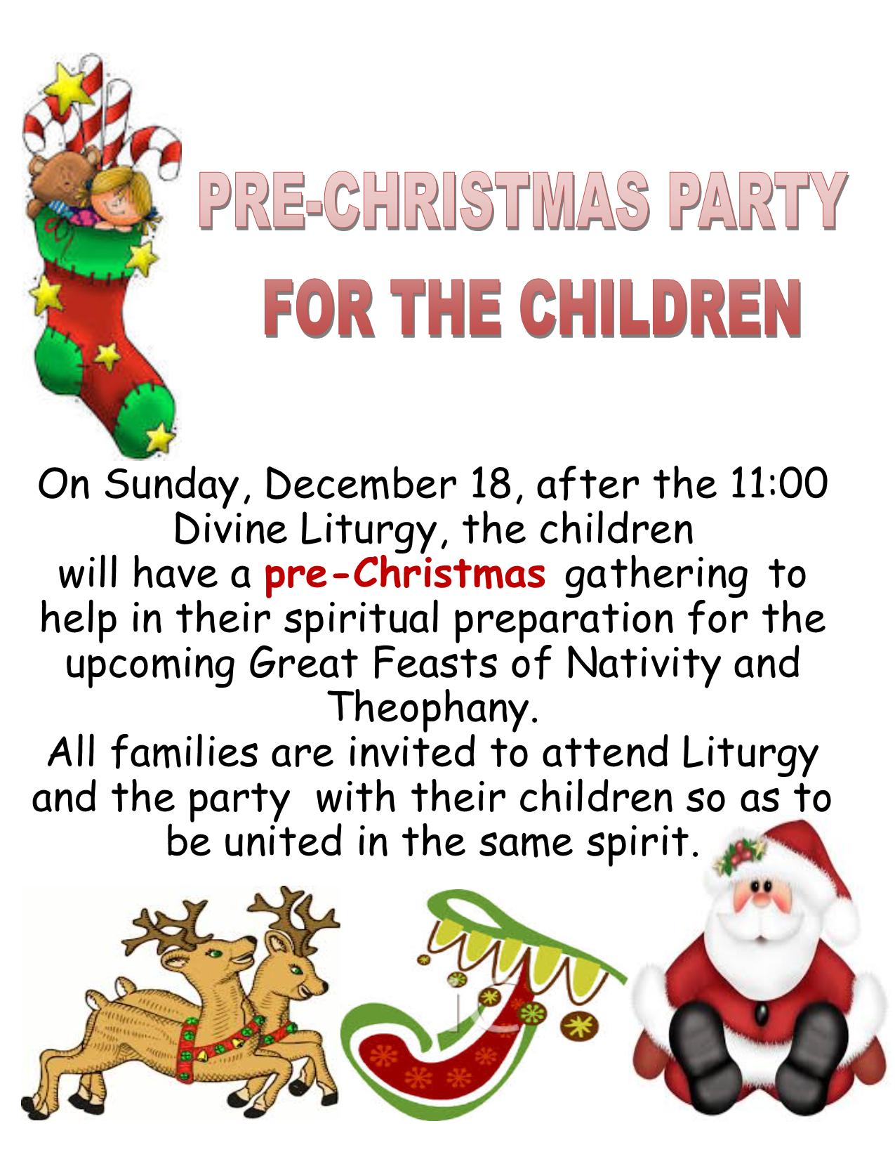 Fiesta Pre-Navideña para los Niños